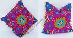 Handicraftofpinkcity Star design 2 PCS Set Suzani embroidered Pillow case . Decorative Cushion c ...
