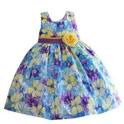 MingAo Sun Flower Girl Dress Party Sleeveless Beach 6-7 Years