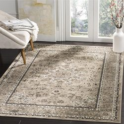 Safavieh Atlas Collection ATL668P Silver Oriental Viscose Area Rug (6'7″ x 9'6 ...