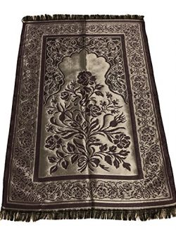 Luxury Quality Silk Rose Pattern Islamic Prayer Rug Janamaz Sajjadah Muslim Namaz Seccade Turkis ...