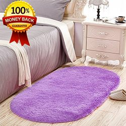 SANMU Soft Velvet Silk Rugs Simple Style Modern Oval Shaggy Carpet Fashion Bedroom Mat for Dinin ...
