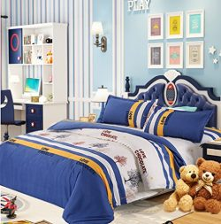 Twin Duvet Cover Set, 4 Piece – 800 TC Hypoallergenic Microfiber Down Comforter Quilt Bedd ...