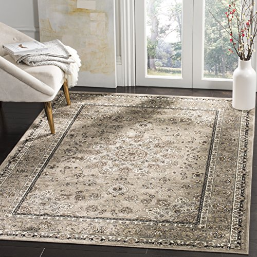 Safavieh Atlas Collection ATL668P Silver Oriental Viscose Area Rug (8′ x 10′)