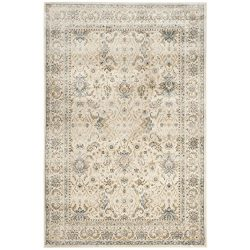 Safavieh Persian Garden Vintage Collection PGV607C Traditional Ivory Silky Viscose Distressed Ar ...