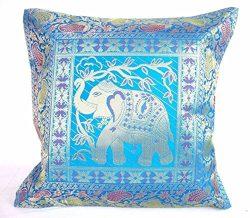 Ganesham Handicraft – Indian Ethnic Hand Decorative Silk Pillow Cushion Cover Silk Home De ...