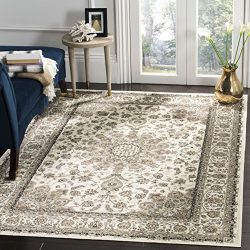 Safavieh Atlas Collection ATL668S Ivory Oriental Viscose Area Rug (4′ x 5'3″)