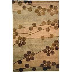 Safavieh Tibetan Collection TB301A Hand-Knotted Beige Silk & Wool Area Rug (8′ x 10 ...