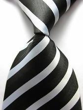 jacob alex #38826 Classic Necktie Mens Striped Ties WOVEN JACQUARD Silk Men's Suits Tie