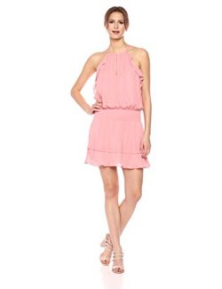 Parker Women's Williame Sleeveless Mini Silk Dress, Rose Terracotta, L