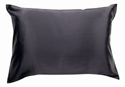 100% Silk Pillowcase for Hair Luxury 25 Momme Mulberry Silk, Charmeuse Silk on Both Sides -Gift  ...