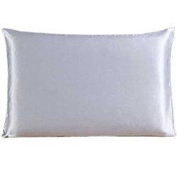Savena Both Sides 22 Momme Mulberry Silk Pillowcase Benefit to Sleeping Soft Hypoallergenic Avoi ...