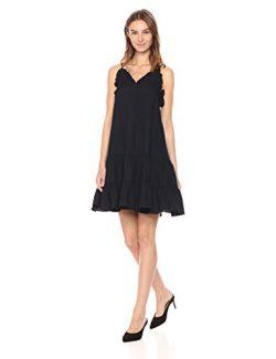 Rebecca Taylor Women's Sleeveless Silk Slip Dress, Dark Navy, 6