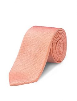 ORIGIN TIES Men's Fashion 100% Silk Solid 2.5 inches Skinny Tie Orange