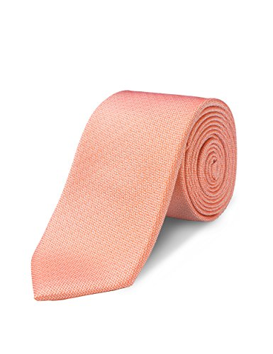 ORIGIN TIES Men's Fashion 100% Silk Solid 2.5 inches Skinny Tie Orange