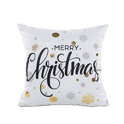 Zulmaliu Merry Christmas Gold Foil Printing 18 x 18 Pillowcases (Color A)