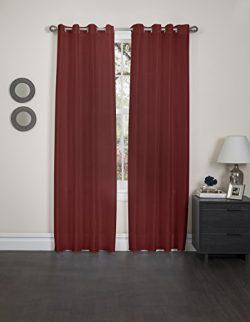 Kashi Home Holly Collection Faux Silk Window Panel / Curtain / Drape 57″x 84″ Lightw ...