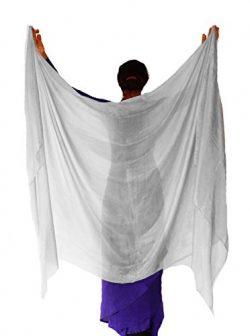 Nahari Silks 100% Silk Silver 108″