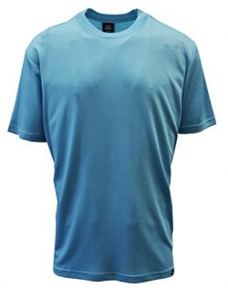 Stacy Adams Men's Fancy Ribbed Crew Neck Dress Tees (X-Large, Blue)