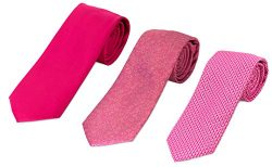 715-736-785- 3 Pack Men's Micro Silk Neck Ties – by HBNY