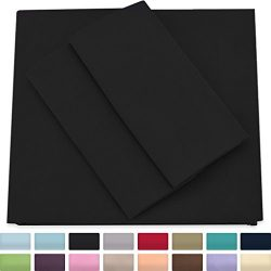 Premium Bamboo Bed Sheets – Full Size, Black Sheet Set – Deep Pocket – Ultra S ...