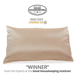 "Fishers Finery 25mm 100% Pure Mulberry Silk Pillowcase Good Housekeeping ""Winner"" (T ..."