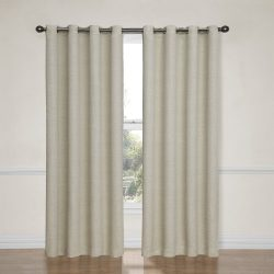 Eclipse 12966052095IVY Bobbi 52-Inch by 95-Inch Grommet Blackout Single Window Curtain Panel, Ivory