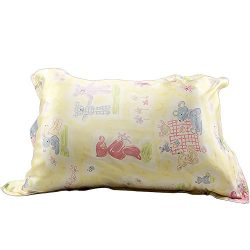 IBraFashion Silk Pillowcase for Hair and Skin Beauty Yellow Bear Print Girl Silk Pillowcase Stan ...
