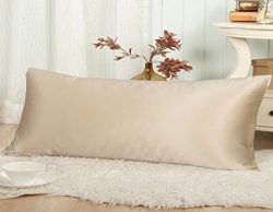 THXSILK 19 Momme Mulberry Silk Body Pillow Cover Pillowcase with Hidden Zipper – Hypoaller ...
