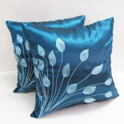 Hit Hot Lovely Tulip Flower (Double) 2 Throw Cushion Cover/Pillow Case Handmade By Satin And Tha ...