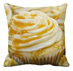 Bling Bling Vanilla Salted Caramel Cupcakes Pattern Pillowcase Sofa and Car Cushion