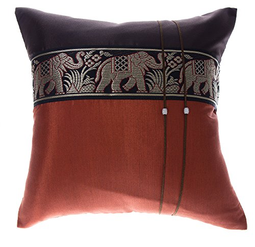 Avarada 20×20 Inch (50×50 cm) Striped Elephant Decorative Throw Pillow Case Cushion Co ...