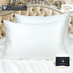 MYK 100% Pure Natural Mulberry Silk Pillowcase, 30 Momme Both Side for Hair & Facial Beauty, ...