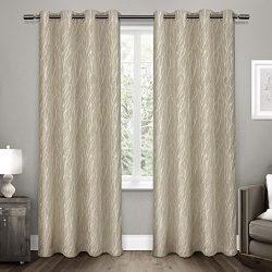 Exclusive Home Forest Hill Room Darkening Grommet Top Window Curtain Panel Pair, 52×84, Nat ...