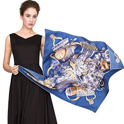 """Silk Scarf Women, 100% Mulberry Silk Scarf Square for Hair 14MM Twill for Women 35""""x35"""""""