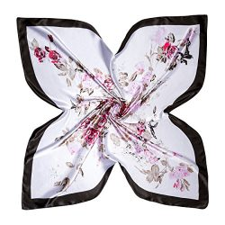 Flowomen Small Silk Neckerchief Summer Satin Soft Charmeuse Scarf Handbag Decoration Hair Protec ...