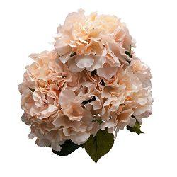 Derker Silk Artificial Hydrangea Bouquet 5 Big Heads Hydrangea Flowers Arrangement Home Wedding  ...