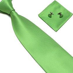 Zjzhao Fashion Woven Silk Necktie HandMade Mens Tie Cufflinks and Handkerchief Set Hanky Gift (G ...