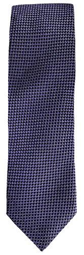 Hugo Boss Hugo Mens Purple With Black Dots Pattern 100% Silk Tie (50324280 505)