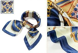 QBSM Womens Fashion Mother's Day Gift Square Satin Silk Neck Head Hair Scarf Hijab for Sle ...