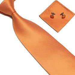 Zjzhao Fashion Woven Silk Necktie HandMade Mens Tie Cufflinks and Handkerchief Set Hanky Gift (O ...