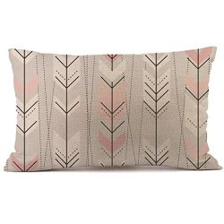 Allywit Rectangle Cushion Cover Silk Throw Pillow Case Pillowcase (E)