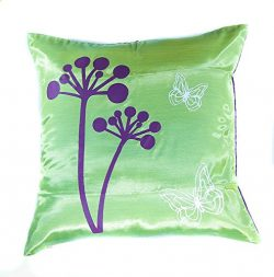Narphosit Thai Silk Decorative Throw Pillow Case Cushion Cover Zippered 18×18 Inch