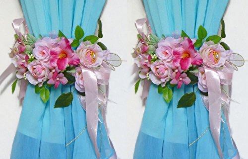 Two Big Curtain Flower Bridle Artificial Silk Flower Wedding Hanging Wall Decor