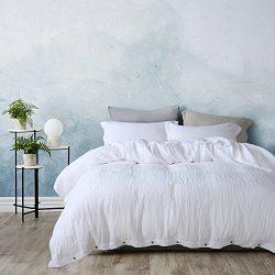 3 Pieces /Lot Linen Duvet Cover Set Linen Bedding Sets 100% Pure French Linen Water wash king qu ...