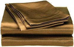 Cloud Fino Hotel Quality Silky Soft Luxurious Satin 4 Pc Sheet Set Wrinkle & Fade Resistant  ...