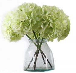 Artificial Hydrangea Flowers, Meiwo 2 Pcs Nearly Natural Fake Hydrangea Silk Flowers for Your We ...