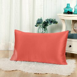 THXSILK 19 Momme Mulberry Silk Pillowcase for Hair and Skin-Pure Natural Silk on Both Sides, Env ...