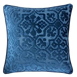 Homey Cozy Modern Velvet Throw Pillow Cover,Indigo Blue Luxury Soft Fuzzy Cozy Warm Slik Decorat ...