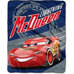 "Disney Cars ""Lightning on the Track"" 40″ x 50″ Silk Touch Throw"