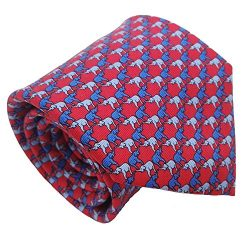 Qobod Classic Men's 100% Silk Tie Necktie Woven JACQUARD Neck Ties gift box RED BLUE SKY E ...